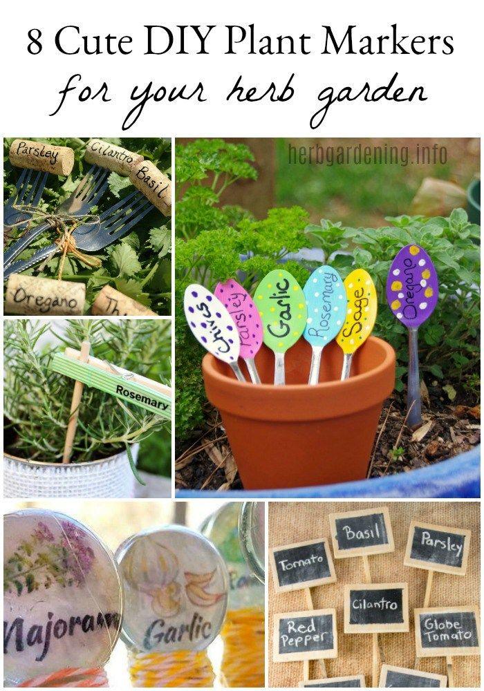8 Cute Diy Herb Garden Plant Markers Gardening Diy 400 x 300