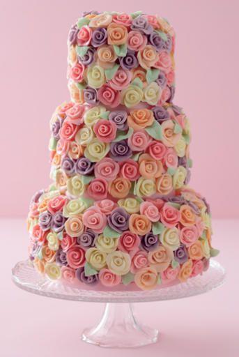 Colored Rose Cake