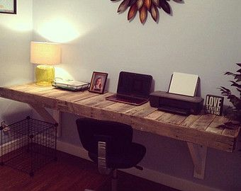 Beautiful Reclaimed Pallet Wood Desk by LostDogWoodworks on Etsy
