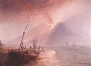 Eruption of Mt.Vesuvius, 1856  James Baker Pyne