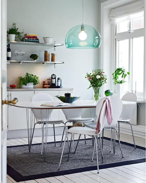 Kartell Fly lamp. Sage or light blue?