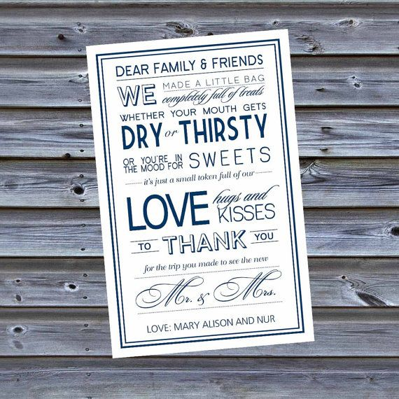 Printable Wedding Hotel Welcome Bag Letters by DesignsByDVB, $10.00