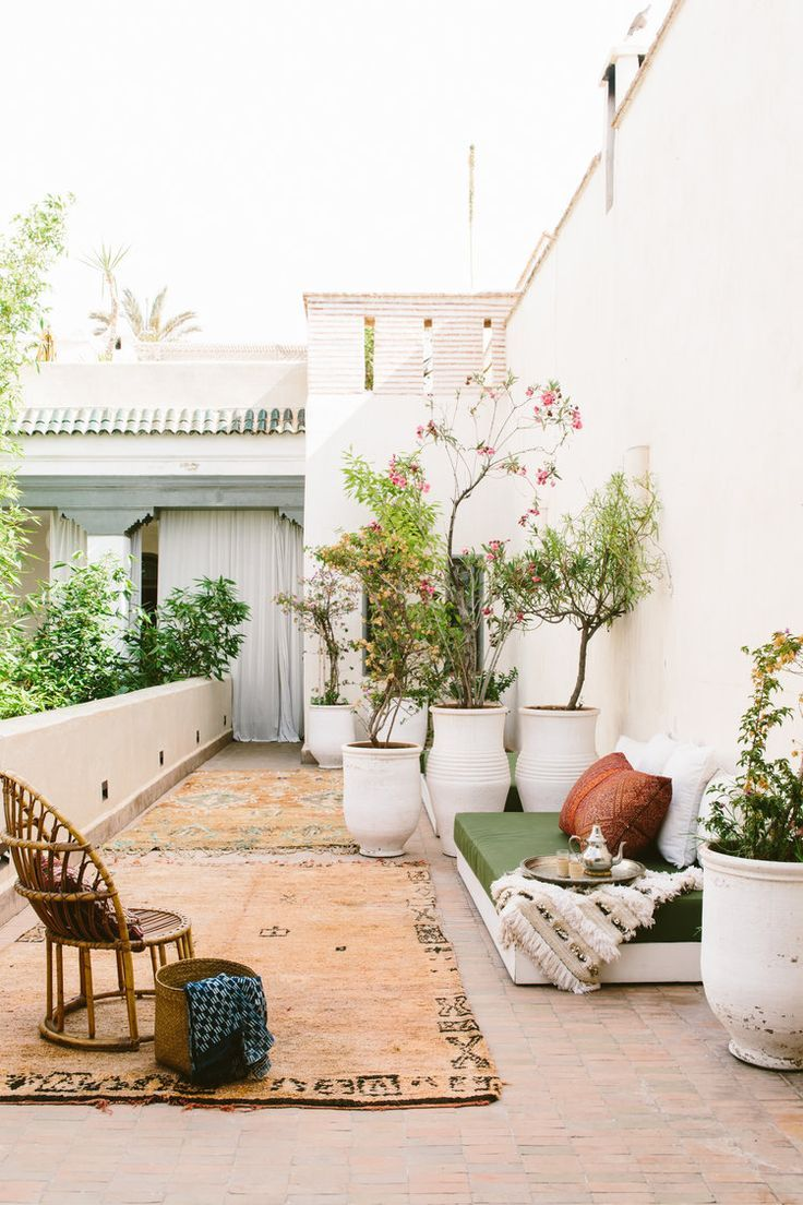 Moroccan Inspired Outdoor Patio Space Plant Filled Outdoor Space Patio Inspiration Outdoor Rooms Outdoor Patio Space Patio