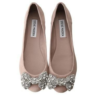Steve Madden Nude Flats - LOVE!!!: Shoes, Bows Flats, Cute Flats, Sparkly Bows, Sparkle Bows, Steve Madden, Ballet Flats, Madden Flats, Stevemadden