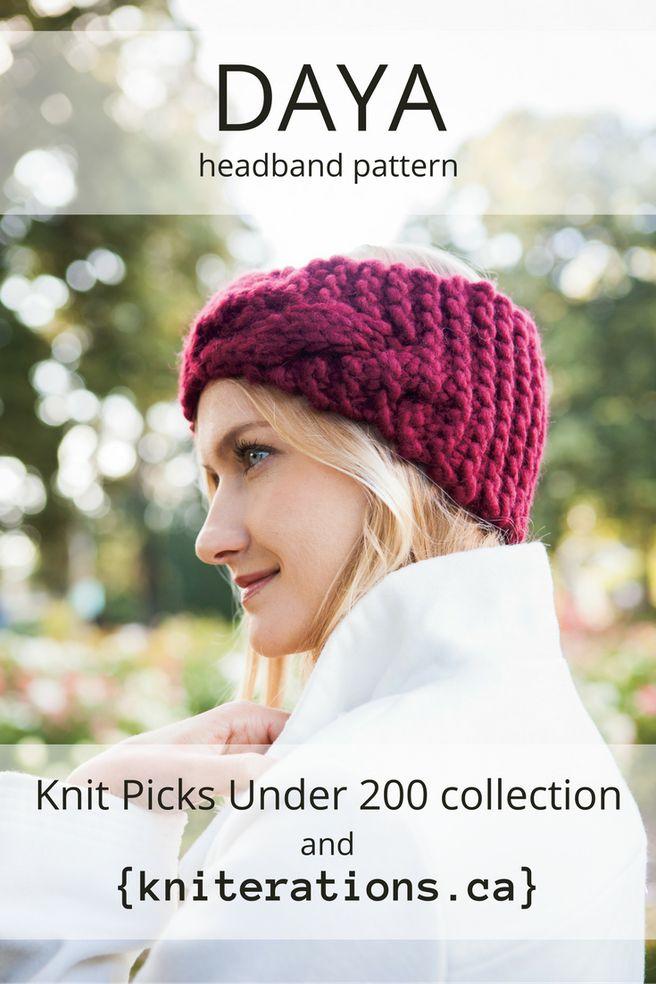 DAYA headband pattern by Allison O'Mahony {kniterations.ca} @kniterator