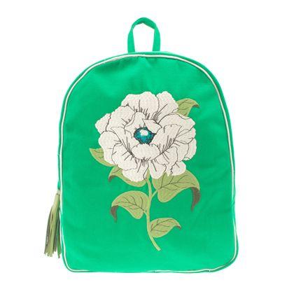 Mochila Farm college flor - verde