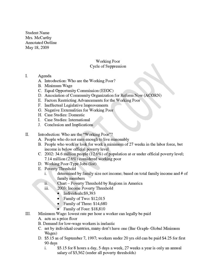Annotated outline example in apa format, Community essay example - agenda examples