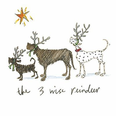 Three Wise Reindeer by Sam Toft