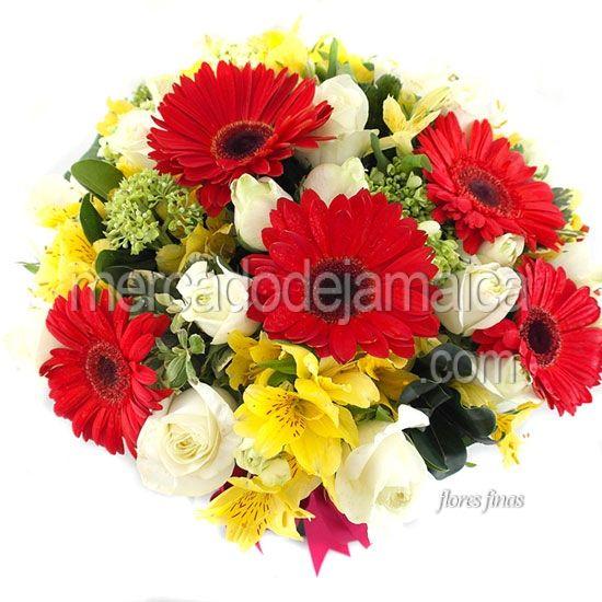 Arreglo Floral de Gerberas Rojas Odessa Color !| Envia Flores