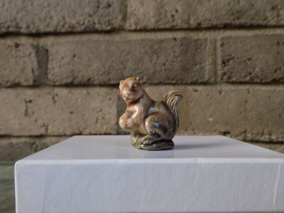 Wade Squirrel Figurine by CleaningOutMyStudio on Etsy