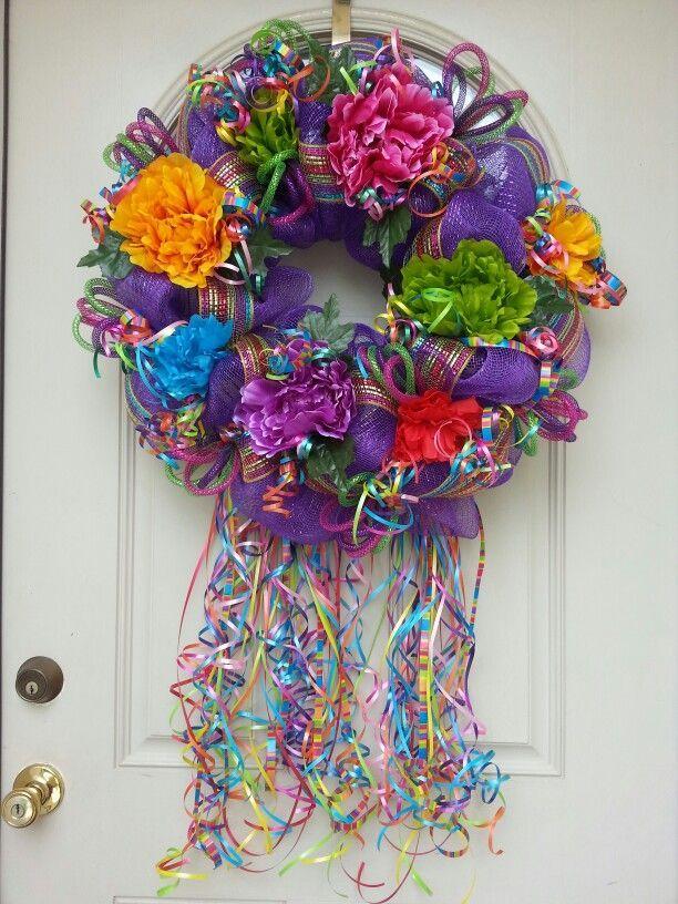 Well-liked 76 best Fiesta Wreaths images on Pinterest | Garlands, Mexican  LK65