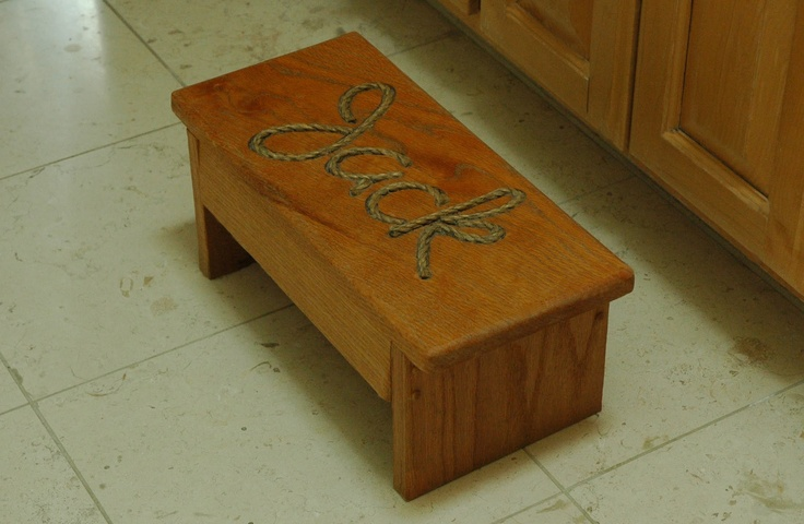 Personalized Child Step Stool WoodWorking Projects & Plans