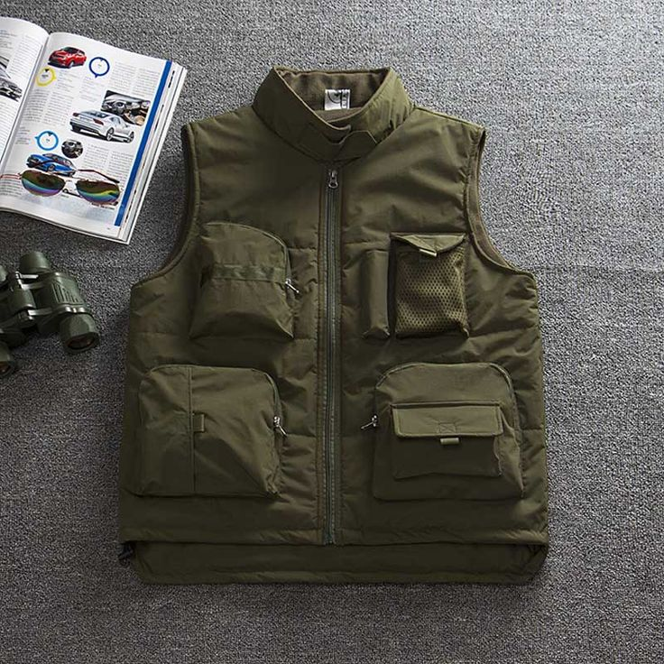 Mens Quick-Dry Mesh Fishing Vest Jacket Loose Multi-Pocket Outdoor Photography Angler Waistcoat Fishing Vests chaleco de pesca