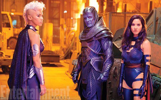 Alexandra Shipp, Oscar Isaac et Olivia Munn dans X-Men Apocalypse