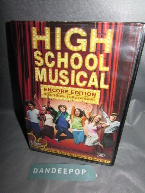 High School Musical (DVD, 2006, Encore Edition) Movie #highschoolmusical #encoreedition #dvd #movie #dandeepop Find me at dandeepop.com