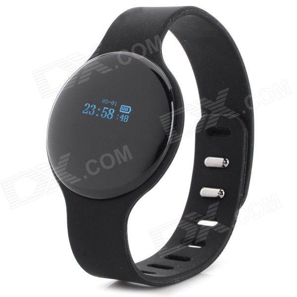 "SW102 0,68 ""экран Bluetooth V4.0 Смарт часы браслет браслет ж / Спорт / Tracking Sleep - черный"