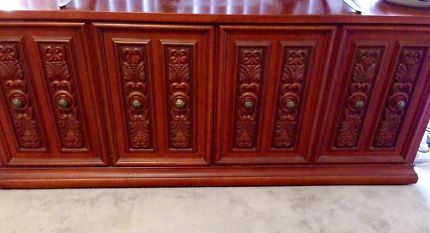 Timber 4 door Buffet with 3 draws | Buffets & Side Tables | Gumtree Australia Melville Area - Applecross | 1128999376