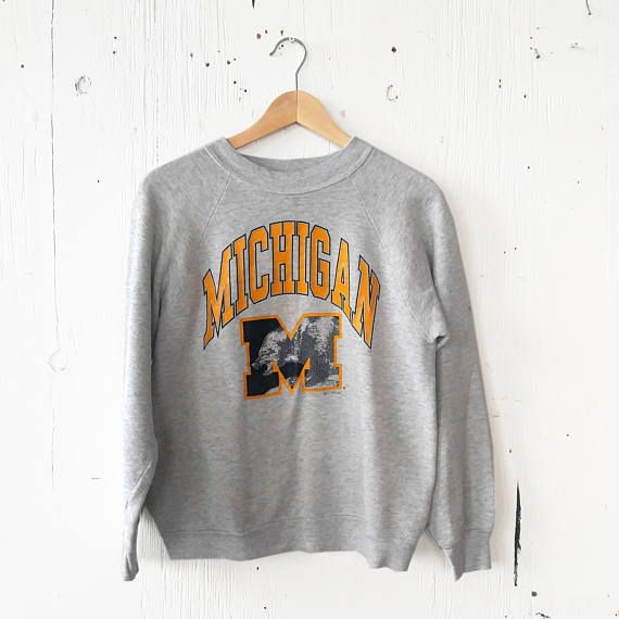 Vintage Universiteit van Michigan Sweatshirt