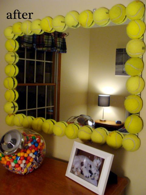 Ok This Tennis Ball Mirror Is Awesome So Cute Wish I Played A Sport Like