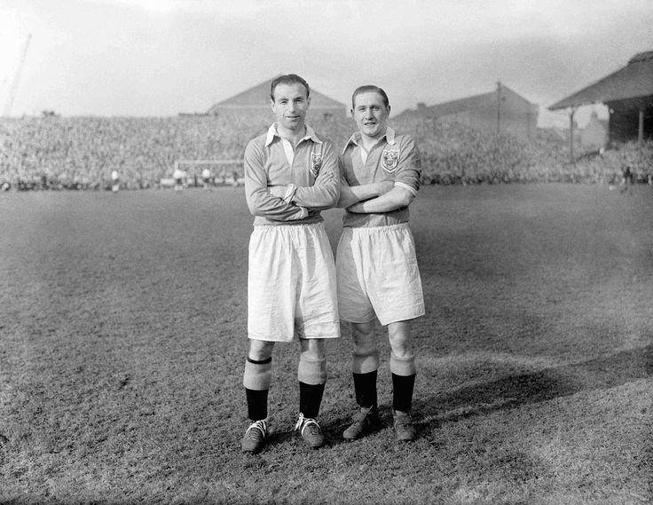 Stanley Matthews and Stan Mortensen.  Lots of football players are regarded as great, but these two truly deserve that description.  I'm too young to have seen them play, but I have been a life-long Blackpool FC supporter, and these two are part of the team's illustrious history.