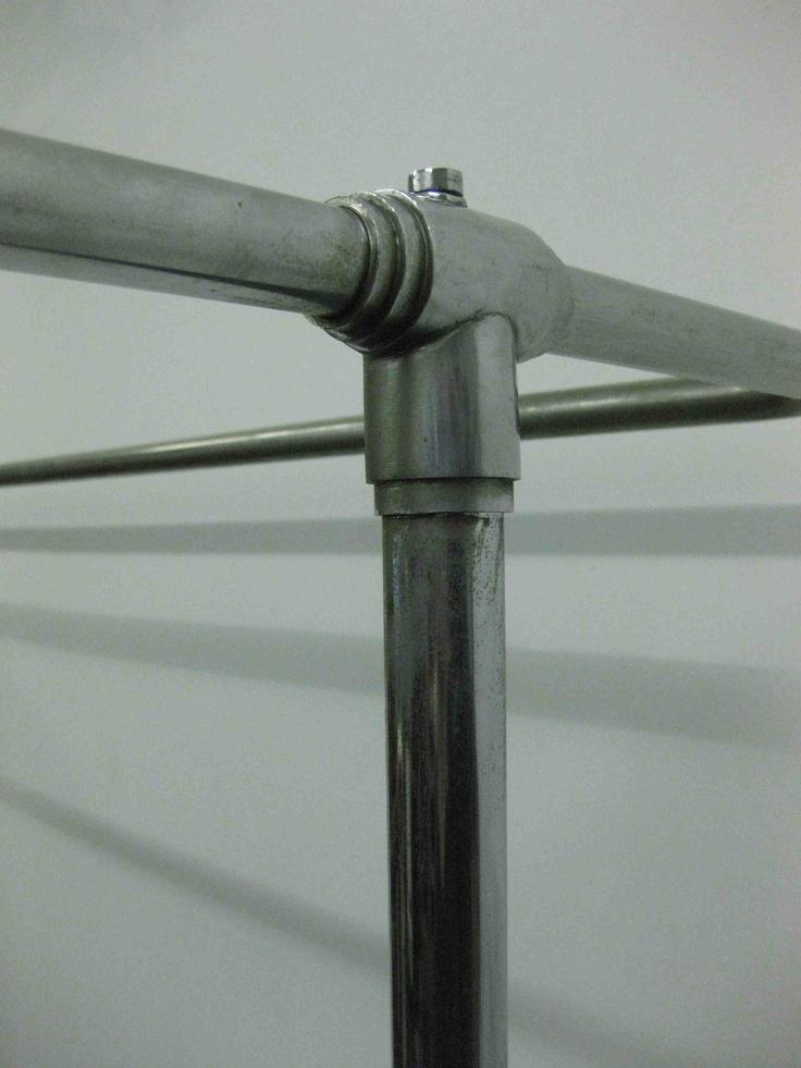 deco clothes rail,vintage clothes rail,chrome clothes rail
