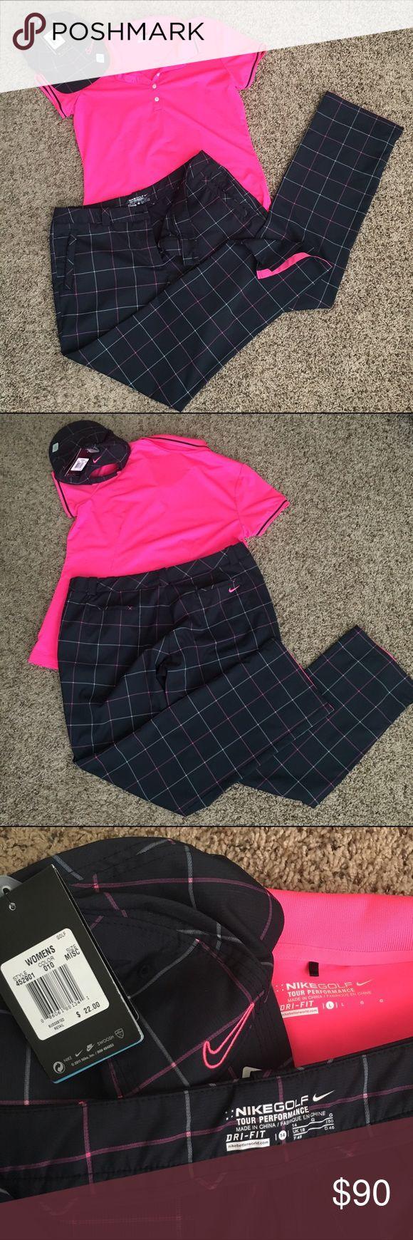 Design your own t-shirt hot pink - Nike Golf Tour Performance Outfit Golf Tourhot Pink Shirtsplaid