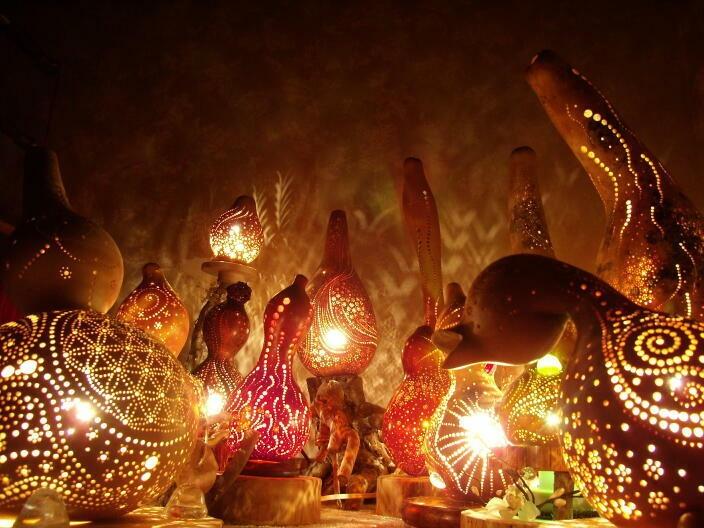 gourd handmade lamps
