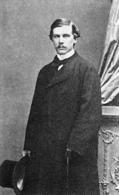 John Pierpont Morgan in his youth, c.1862. Morgan, captain of industry and finance during the Gilded Age in NYC.