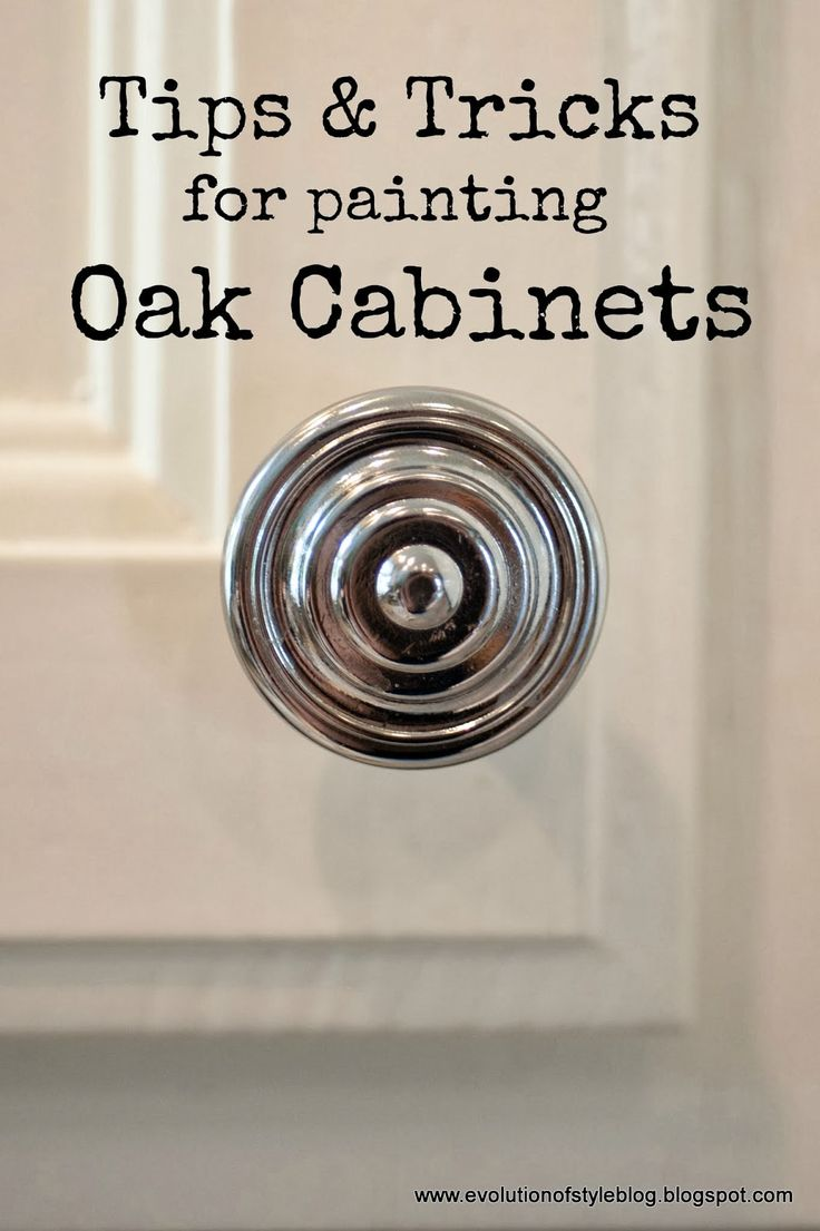 Evolution of Style: Tips + Tricks for Painting Oak Cabinets