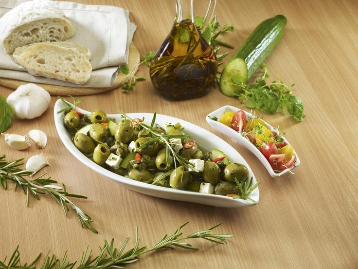 Olívabogyók feta sajttal
