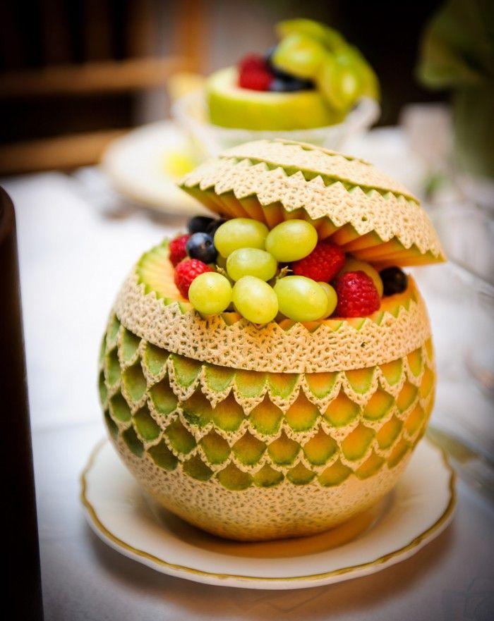 Carved Canteloupe / Melone intagliato by Anna Buffa