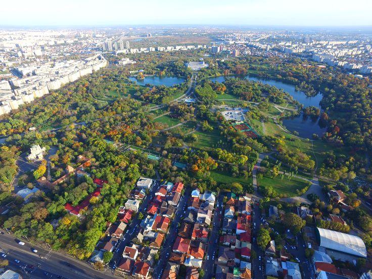 Parcul Tineretului vazut de la 300 m inaltime!