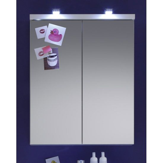 Bathroom Cabinet With Lightirror Doors Will Save Your Money On Extra Lighting And