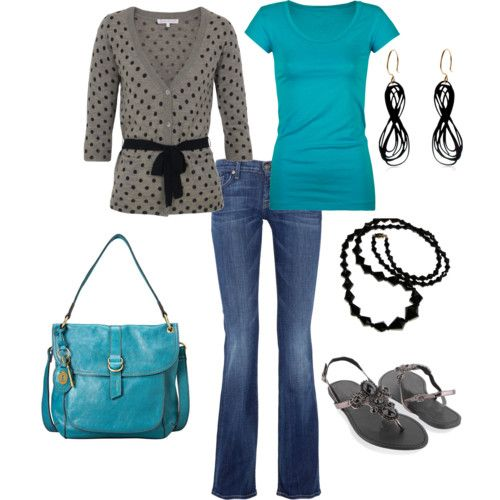Turquoise: Shoes, Outfits, Sweaters, Colors Combos, Polka Dots, Style, Favorite Colors, Bags, The Cardigans