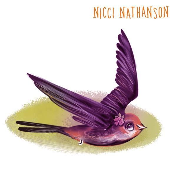 Swallow illustration by Nicci Nathanson www.niccinathanson.com