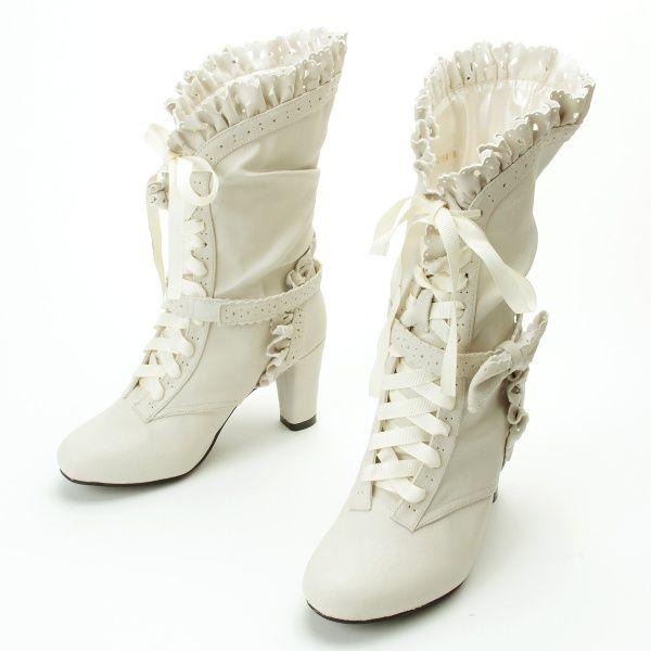 ブーツ(クラシカルフリルブーツ)   クイーンビー(Queen Bee)   ファッション通販 マルイウェブチャネル