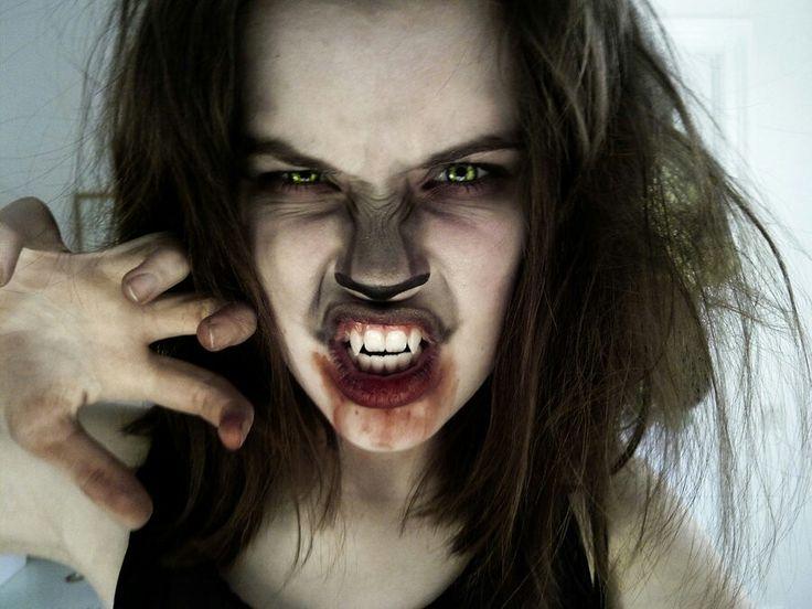 cool wolf makeup simplistic but grungy and badass - Wolf Makeup Halloween