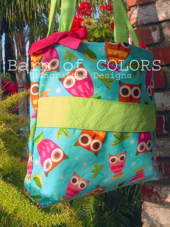 Nappy bag - love the fabric