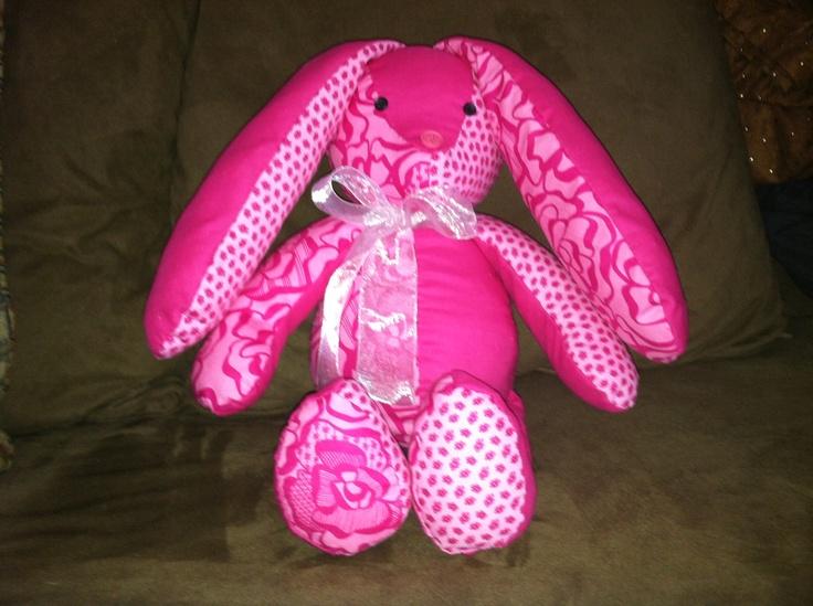 Patchwork Bunny ❤  www.memorybearsbytricia.com
