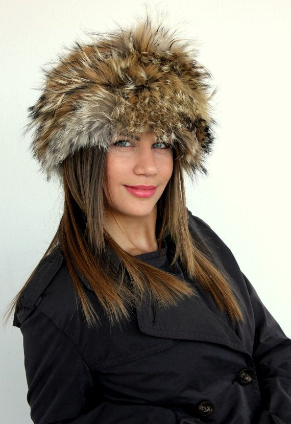 Traditional Beautiful Unique Color Hat made with premium Fox Fur. Extra warm and stylish