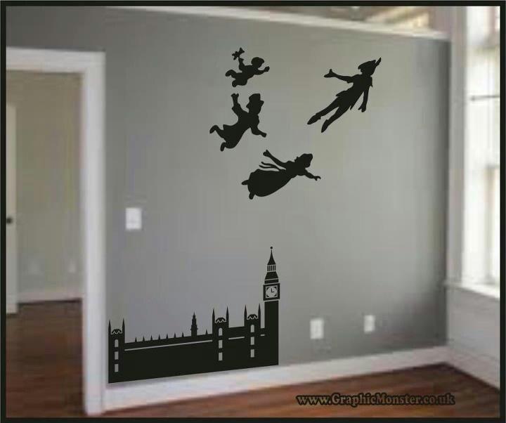 Disney Peter Pan wall decor #disney #peterpan #wallart