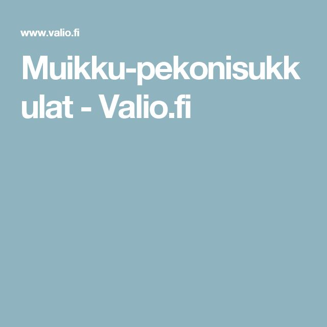 Muikku-pekonisukkulat - Valio.fi