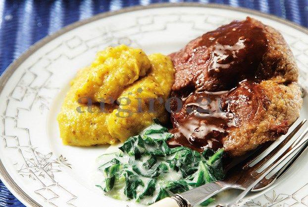 Μοσχάρι με σάλτσα βερμούτ και μουστάρδα