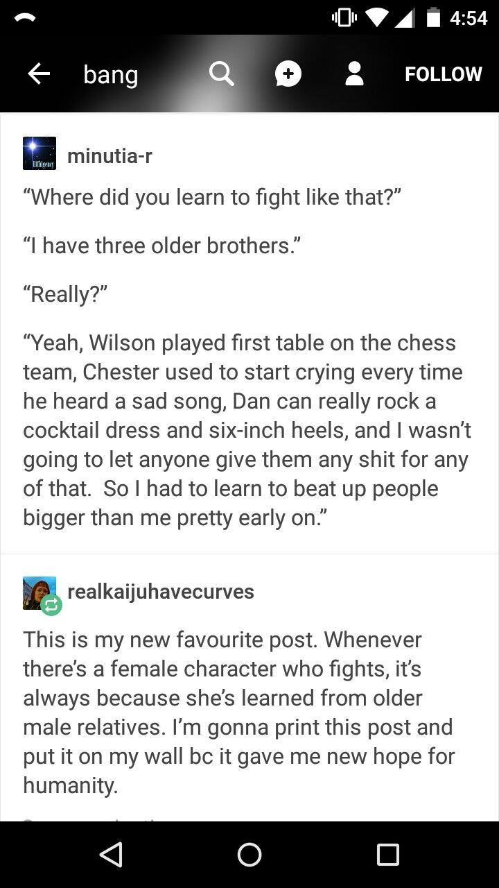 Well guys older male relative does work I have thought plenty of my younger female relatives atleast basic self defense but this post is still awesone