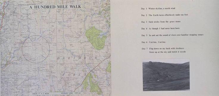 Richard Long - A hundred mile walk 1971-72