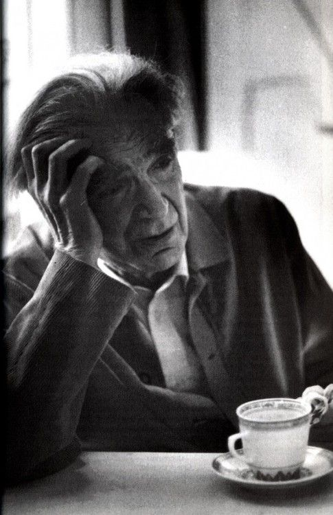 """Without the idea of sucide I would have surely killed myself.""  Photo of Emil M. Cioran by John Foley, 1991"