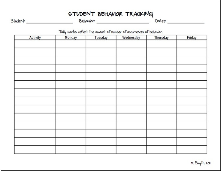 Best 25+ Behavior tracking ideas on Pinterest 4th grade - Sample Tracking Sheet