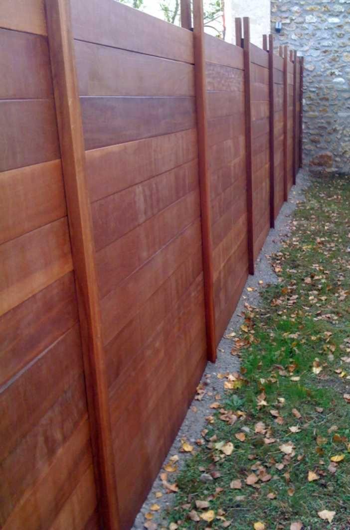 palissade bois design palissade pinterest yards. Black Bedroom Furniture Sets. Home Design Ideas