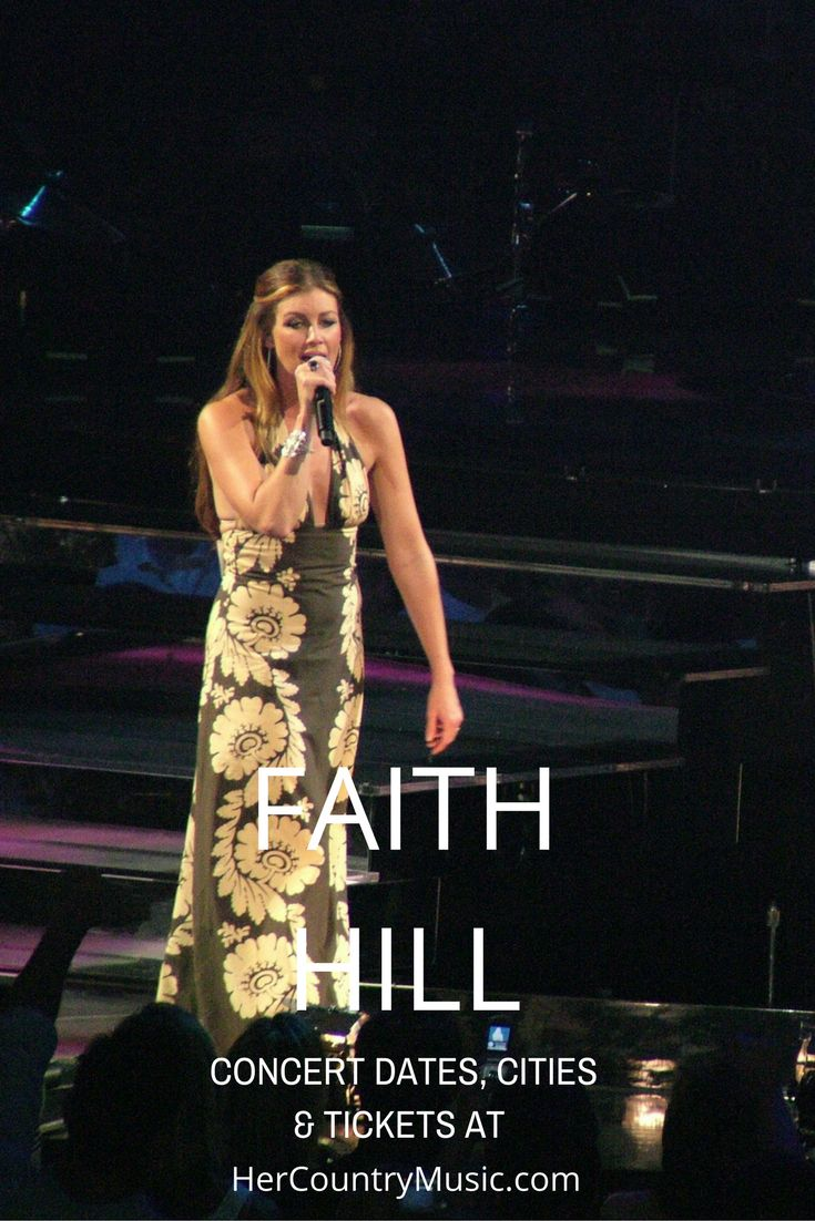 Faith Hill Tour Dates: Faith Hill is an American country music singer, songwriter, actress and record producer. She's one of the most successful and highest performing country music artists of all time.
