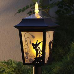 Tinkerbell Lamp.  Needed for the new house!http://www.ebay.com/bhp/disney-solar-lights- para el cuarto de adas de Emilia
